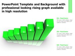 Template And Background With Professional Looking Rising Graph Available In High Resolution