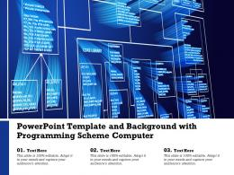Template And Background With Programming Scheme Computer Ppt Powerpoint