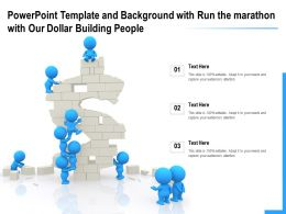 Template And Background With Run The Marathon With Our Dollar Building People