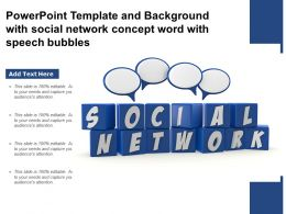 Template And Background With Social Network Concept Word With Speech Bubbles