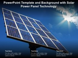 Template And Background With Solar Power Panel Technology Ppt Powerpoint