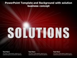 Template And Background With Solution Business Concept Ppt Powerpoint