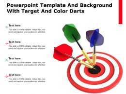 Template And Background With Target And Color Darts Ppt Powerpoint