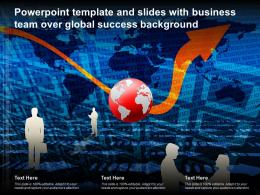 Template And Background With The Business People On A White Background Ppt Powerpoint
