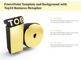 Template And Background With Top10 Business Metaphor Ppt Powerpoint