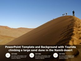 Template And Background With Tourists Climbing A Large Sand Dune In The Namib Desert