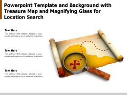 Template And Background With Treasure Map And Magnifying Glass For Location Search