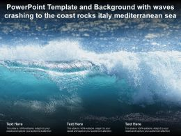 Template And Background With Waves Crashing To The Coast Rocks Italy Mediterranean Sea