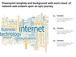 Template And Background With Word Cloud Of Network Web Embark Upon An Epic Journey