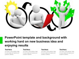 Template And Background With Working Hard On New Business Idea And Enjoying Results