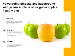 Template And Background With Yellow Apple In Other Green Apples Healthy Diet