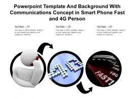 Template And With Communications Concept In Smart Phone Fast And 4g Person