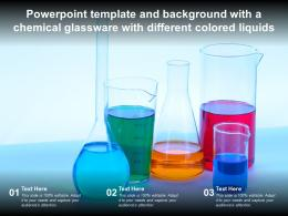 Template Background With A Chemical Glassware With Different Colored Liquids Ppt Powerpoint
