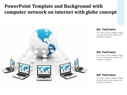 Template Background With Computer Network On Internet With Globe Concept