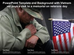 Template Background With Vietnam Vet Pays A Visit To A Memorial On Veterans Day