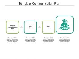 Template Communication Plan Ppt Powerpoint Presentation Slides Gallery Cpb