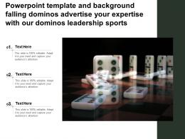 Template Falling Dominos Advertise Your Expertise With Our Dominos Leadership Sports