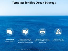 Template For Blue Ocean Strategy