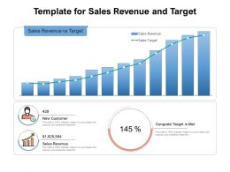 Template For Sales Revenue And Target