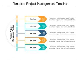 Template Project Management Timeline Ppt Powerpoint Presentation Infographics Cpb