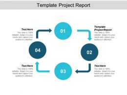 Template Project Report Ppt Powerpoint Presentation Show Slideshow Cpb