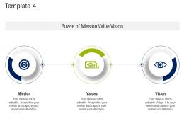 Template Puzzle Mission And Vision Statement Ppt Template