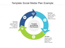 Template Social Media Plan Example Ppt Powerpoint Presentation Ideas Background Images Cpb