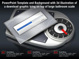 Template With 3d Illustration Of A Download Graphic Lying On Top Of Large Bathroom Scale