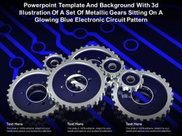 Template With 3d Illustration Of A Set Of Metallic Gears Sitting On A Glowing Blue Electronic Circuit Pattern