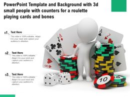 Template With 3d Small People With Counters For A Roulette Playing Cards And Bones