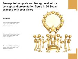 Template With A Concept And Presentation Figure In 3d Set An Example With Your Views