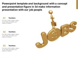 Template With A Concept Presentation Figure In 3d Make Information Presentation With Our Job People