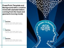 Template With A Creative Mind With Alphabet Letters Coming From Head Gearwork Moving Inside