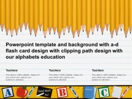 Template With A D Flash Card Design With Clipping Path Design With Our Alphabets Education