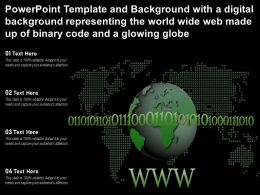 Template With A Digital Representing The World Wide Web Made Up Of Binary Code And A Glowing Globe