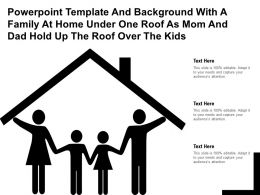 Template With A Family At Home Under One Roof As Mom And Dad Hold Up The Roof Over The Kids