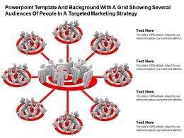 Template With A Grid Showing Several Audiences Of People In A Targeted Marketing Strategy