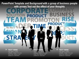 Template With A Group Of Business People With Arrows Test Out The Effect Of Your Thoughts