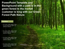 Template With A Path Is In Green Forest In Market Customer Is King With Our Green Forest Path Nature