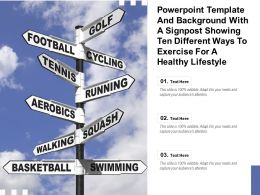 Template With A Signpost Showing Ten Different Ways To Exercise For A Healthy Lifestyle