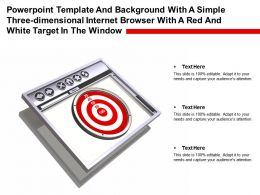 Template With A Simple Three Dimensional Internet Browser With A Red White Target In Window