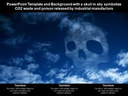 Template With A Skull In Sky Symbolize CO2 Waste And Poison Released By Industrial Manufactors