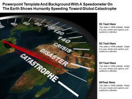 Template With A Speedometer On The Earth Shows Humanity Speeding Toward Global Catastrophe