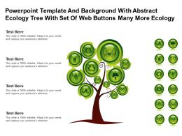 Template With Abstract Ecology Tree With Set Of Web Buttons Many More Ecology