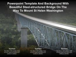 Template With Beautiful Steel Structured Bridge On The Way To Mount St Helen Washington