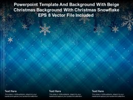 Template With Beige Christmas Background With Christmas Snowflake Eps 8 Vector File Included