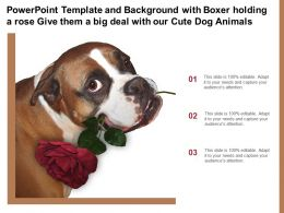 Template With Boxer Holding A Rose Give Them A Big Deal With Our Cute Dog Animals