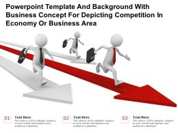 Template With Business Concept For Depicting Competition In Economy Or Business Area
