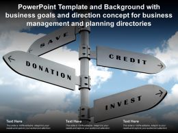 Template With Business Goals And Direction Concept For Business Management And Planning Directories
