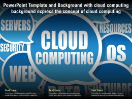 Template With Cloud Computing Background Express The Concept Of Cloud Computing